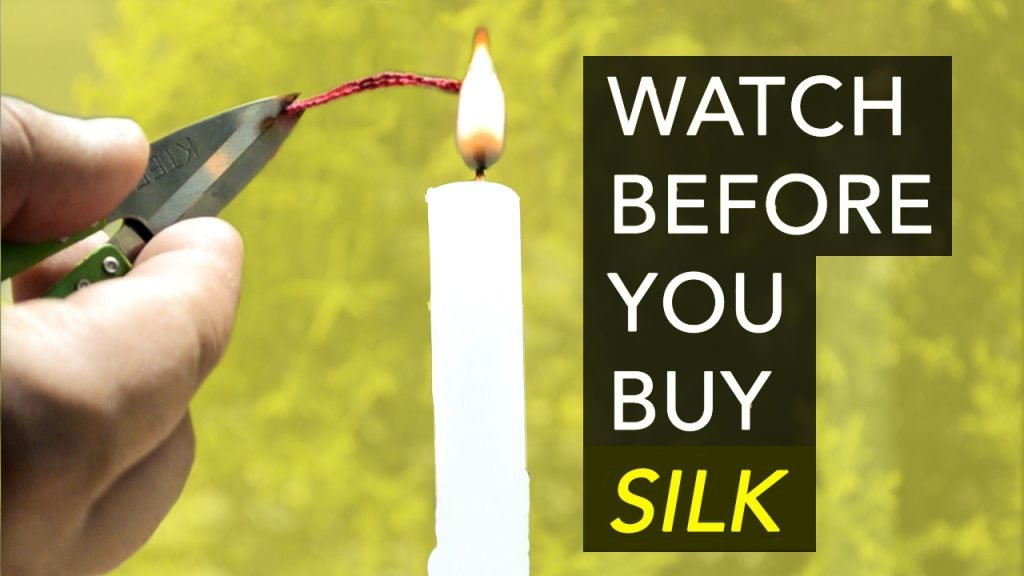Burn test to tell silk from polyester Real Silk vs Fake Silk
