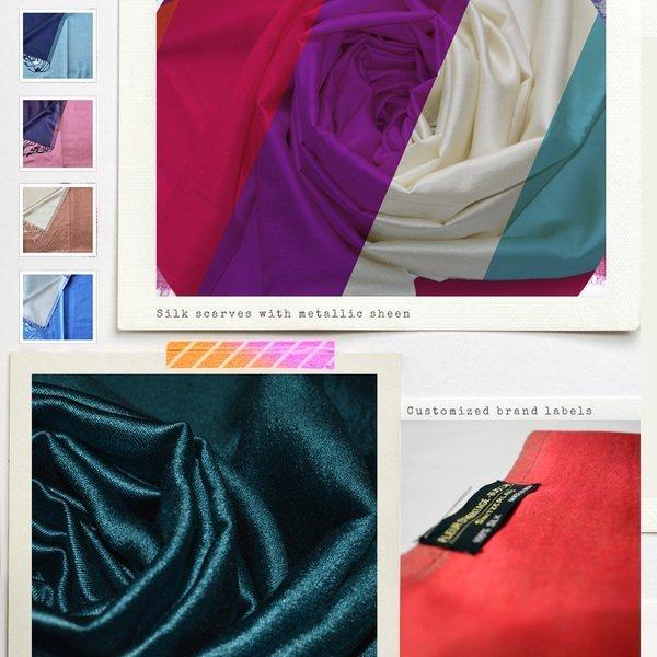 dual color reversible silk scarves wholesale