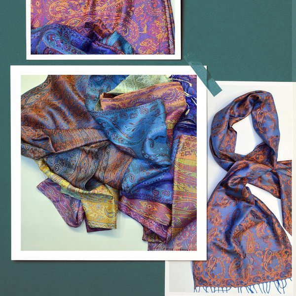 100% pure silk scarves at wholesale prices