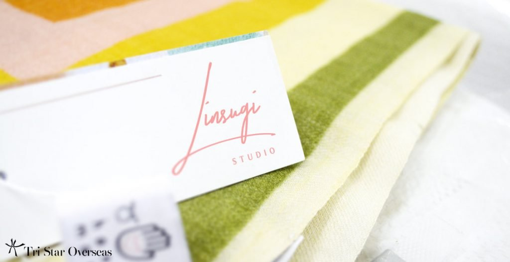 add your logo to custom design printed scarf using hang tags