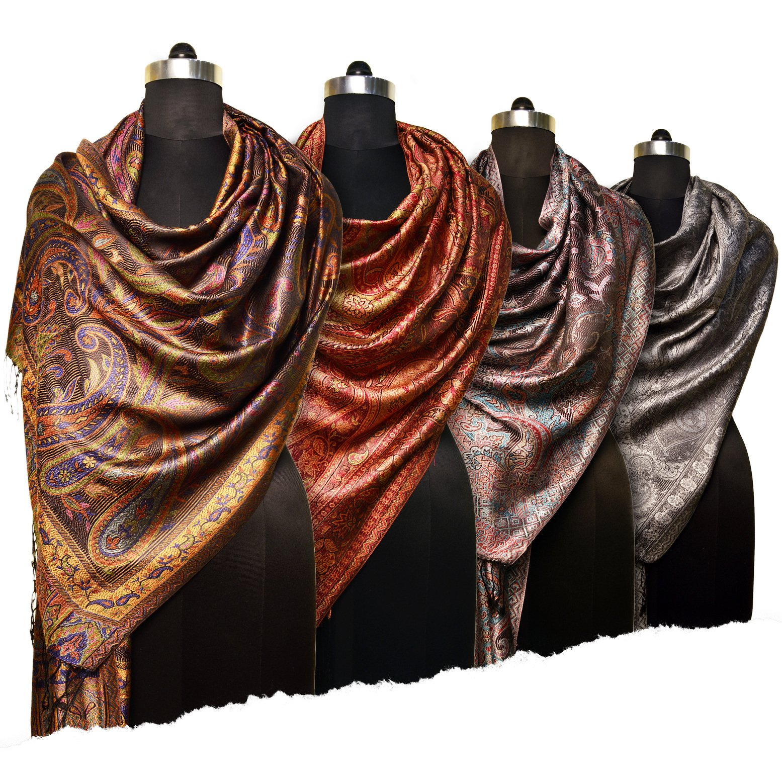 mulberry silk scarves made in India by manufacturer and exporter - Tri Star Overseas