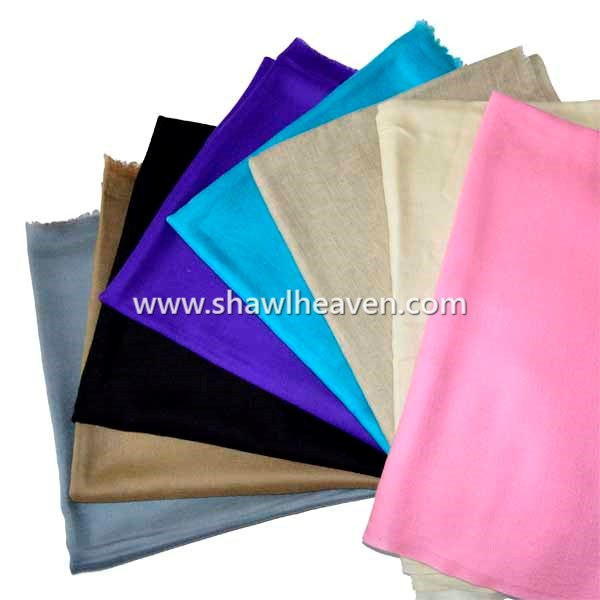 Solid color cashmere scarves and shawls