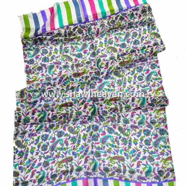bright digital print silk scarves wholesale from tristar overseas