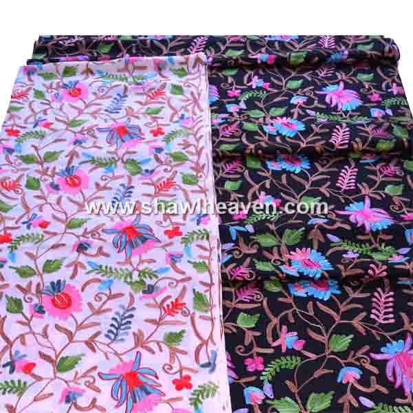 Tulip embroidery Kashmir stole online