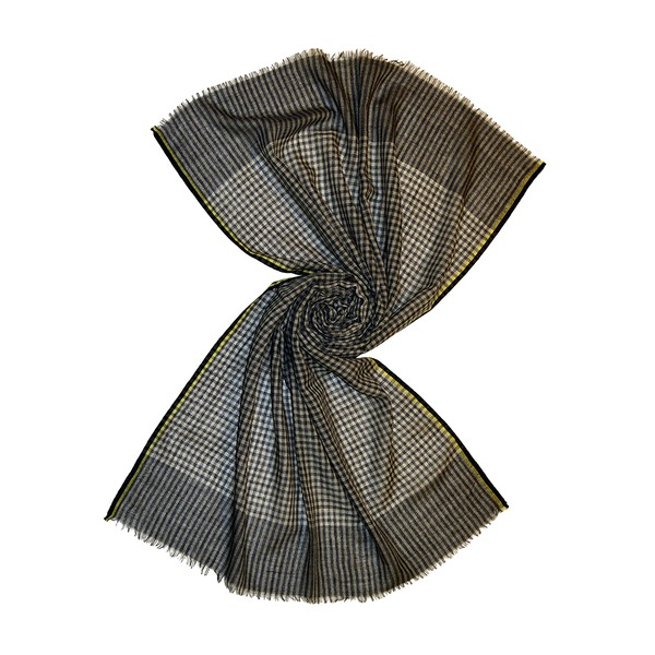 small black/white check wool scarf, buy from tri star overseas