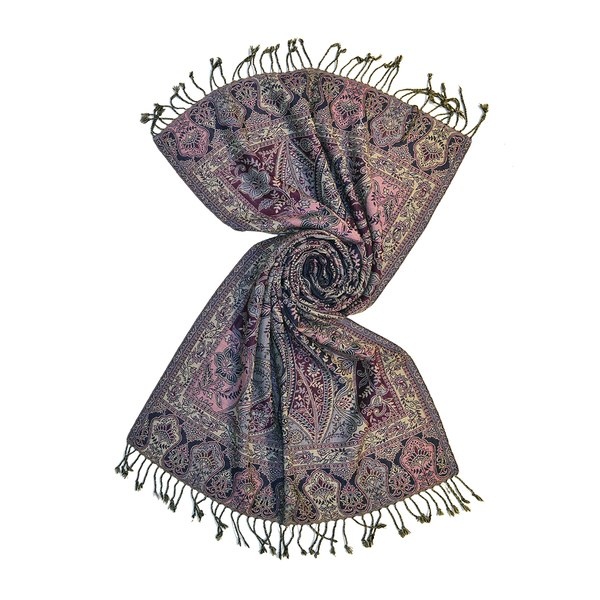 indian wool jacquard stole shawls