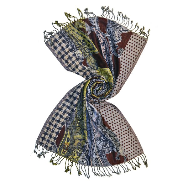 Multi striped wool jacquard scarves made in india