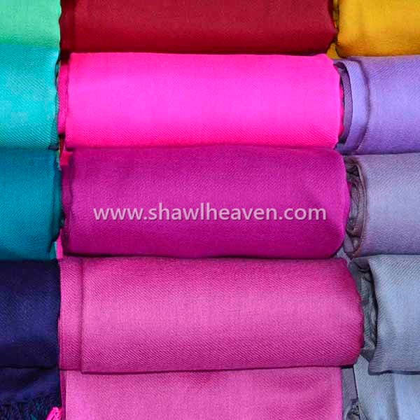 Colorful merino wool twill weave scarves wholesale @shawlheaven
