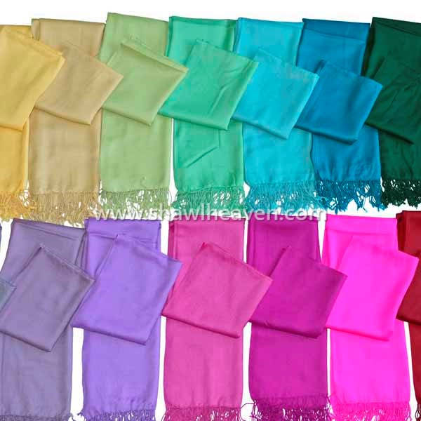 Assorted color wool scarves, buy now in bulk @shawlheaven