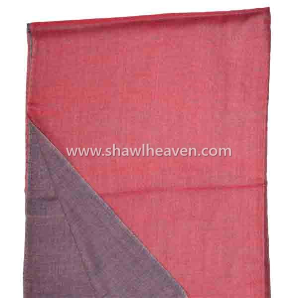Marsala wool shawl scarf in reversible style by Tri Star Overseas, Pantone color of the year