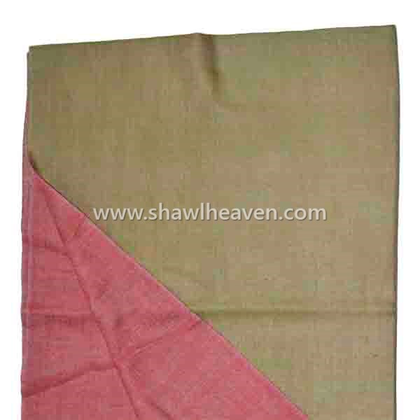 Soft Green pale red twin sided large shawl wrap Tri Star Overseas