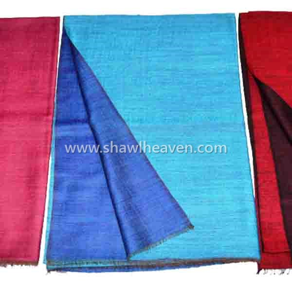 dual color, two sided, two tone reversible wool scarf wrap from Tri Star Overseas