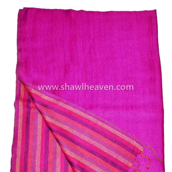 Bright pink Vertical stripes double face, reversible scarves by @shawlheaven