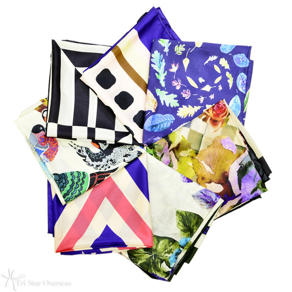 Design your own silk scarves, made in India