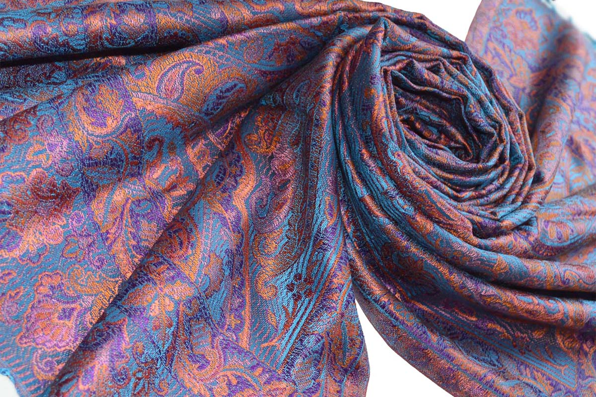 Pashmina Shawl Silk Scarf Manufacturer In India Tri