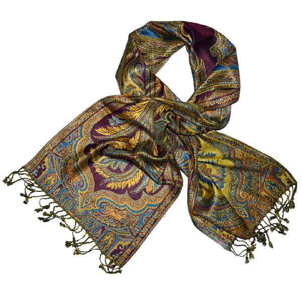 phoenix feather ethnic muffler, neck scarf/wrap in pure viscose